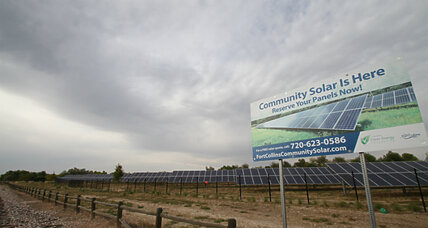 Panels to the people: 'Community solar' aims to democratize the sun