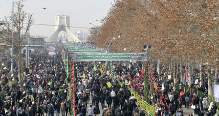 On Iran's revolution day, a message sent with bigger crowds, fewer anti-US taunts