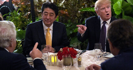 With Trump in White House, Japan's Abe predicts tougher stance on North Korea