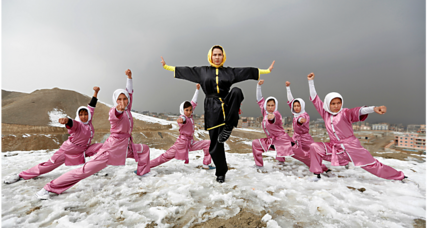 Afghan girls fight prejudice with martial arts