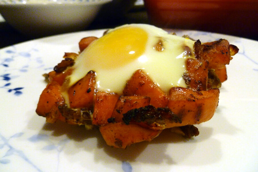 Sweet potato hash with sausage and eggs - CSMonitor.com
