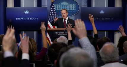 White House blocks reporters from a briefing, shrugging off another unwritten custom