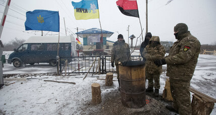 In Ukraine, blockade threatens to force issue at heart of civil war
