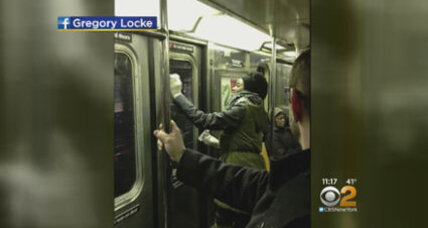 New Yorkers team up to erase Nazi graffiti on subway