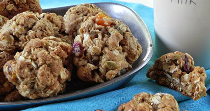 Loaded whole wheat oatmeal cookies