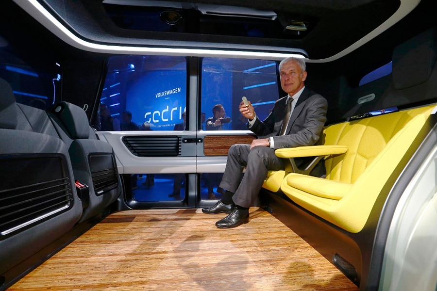Self Driving Car >> Is VW's new Sedric a driverless car – or a lounge on ...