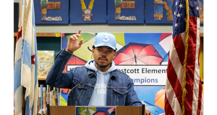 Why did Chance the Rapper give $1 million to Chicago public schools?