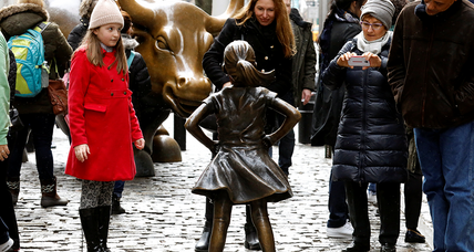 Little girl with a big message: Bronze statue tells Wall St. 'SHE makes a difference'