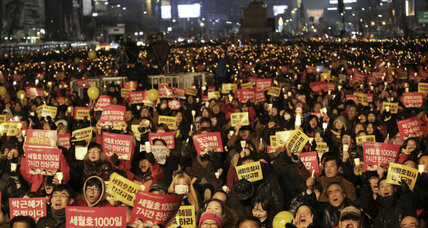 How a protest movement swelled to oust South Korea's president (+video)