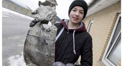 Danish teen and dad find WWII plane wreckage on their farm