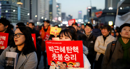In President Park's dramatic ouster, a test of South Korea's young democracy