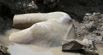 Buried treasure: huge statue of Egyptian king unearthed in Cairo neighborhood