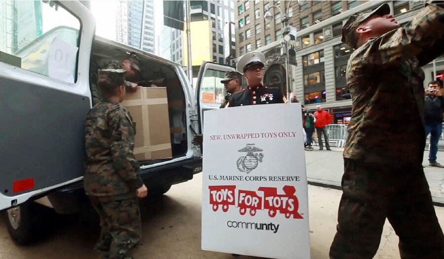 Toys For Tots Slogan : With battles won marines hope to attract more recruits