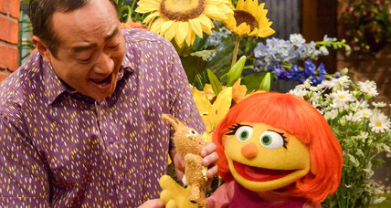 Muppets welcome Julia, a friend with autism, to TV's friendliest street