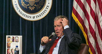 From caricature to man of character: How time and art change image of Bush