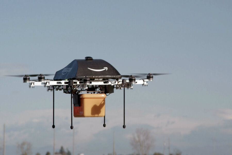 This Undated Image Provided By Amazon Shows The So Called Prime Air Unmanned Aircraft Project That Is Working On In Its Research And Development