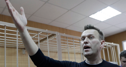 Russian protest leader Alexei Navalny sentenced to 15 days in jail