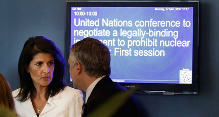 US and other nuclear-armed states boycott UN meeting to discuss banning nukes