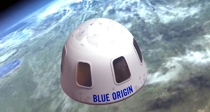 Blue Origin offers window into what a space vacation might look like, literally