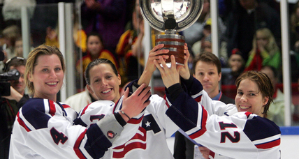 Women's hockey players score big victory off-ice