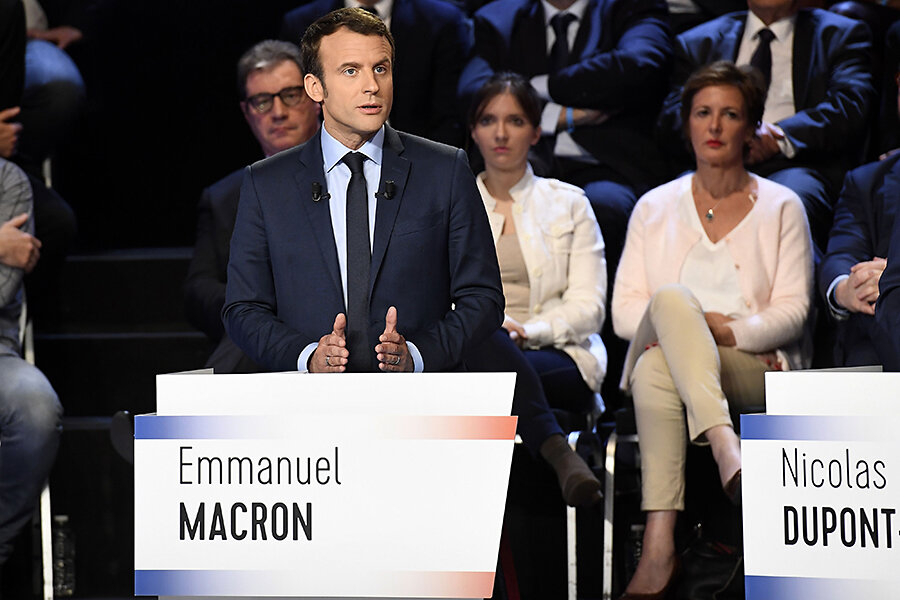 Is French Presidential Hopeful Macron The Clinton To Le Pen S Trump Or Is He Actually An Obama Csmonitor Com