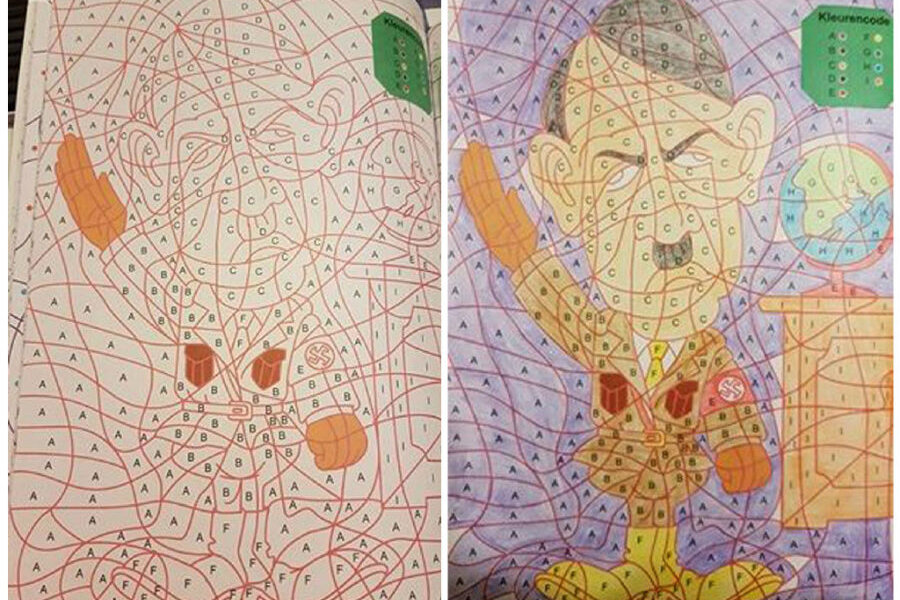 Dutch Stores Pull Children S Coloring Book After Discovering Hitler Image Within Its Pages Csmonitor Com