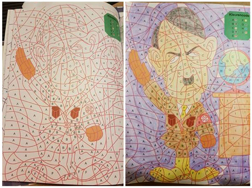 A Color By Numbers Image Of Adolf Hitler Went On Sale This Week In Childrens Coloring Book Chain Dutch Stores Has Apologized After Inadvertently