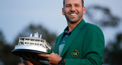 After two decades, Sergio Garcia finally gets to wear the Masters green jacket
