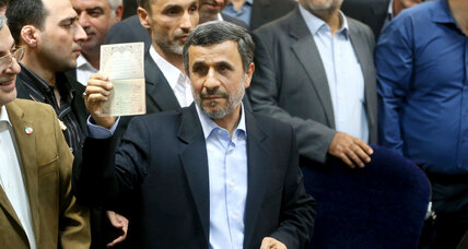 In a surprise move, Ahmadinejad says he's running for president again in Iran