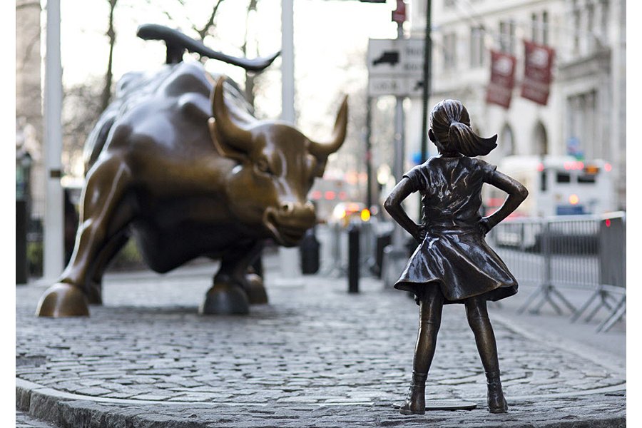 Can the 'Charging Bull' sculptor control his artwork's