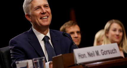In first day on Supreme Court, Gorsuch is an 'energetic questioner'