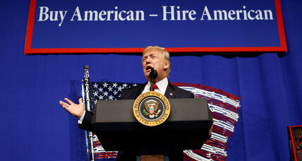 "Trump signs ""Buy American, Hire American,"" an order to put US workers first"