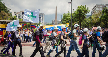 Amid Venezuela's protests, 'Green Cross' medical students are here to help – and to stay