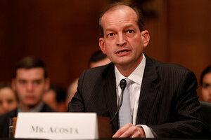 Senate confirms Alex Acosta as Labor secretary - CSMonitor.com