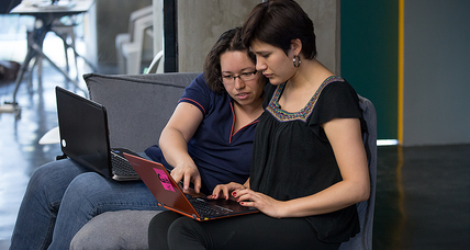 The Latin American 'lab' where women are learning to code across the employment gap