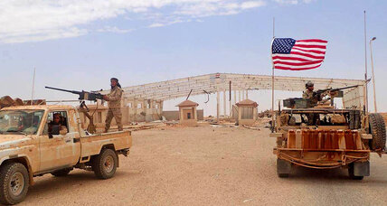 At remote desert garrison in Syria, a US-Iran confrontation is brewing