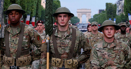 To handle Trump's isolationism, France takes lessons from World War I