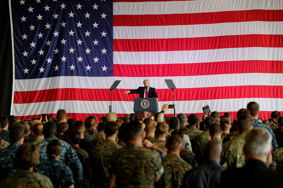 trump announces ban on transgender troops in us military csmonitor com