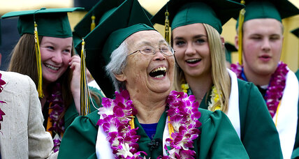 Mary Matsuda Gruenewald graduates from her high school – 74 years later