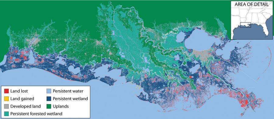 In Race Against Rising Seas Louisiana Scrambles To Save Dwindling - Louisiana sea level map
