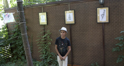Afghan boy shows his art in Serbia to help another in need