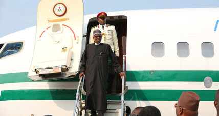 Nigerian president returns, renews vow to stamp out Boko Haram insurgency