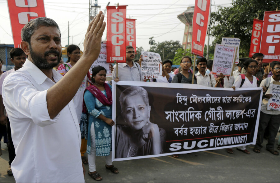 The killing of an Indian journalist spurs protests for free