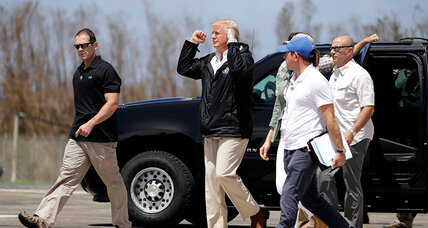 Trump visit to Puerto Rico: a chance to deflect 'Katrina' comparisons