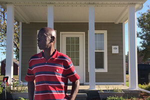 Keith McElvee Stands Outside His New Tiny House In Detroit. Residents, Who  Are Formerly Homeless People, Senior Citizens, Or Young Adults Who Aged Out  Of ...