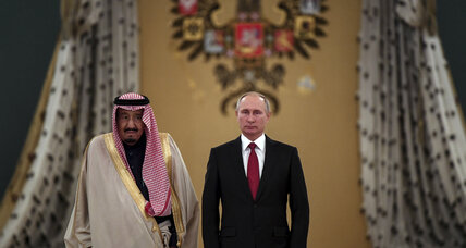 Putin hosts Saudi King, signaling development of an unlikely friendship