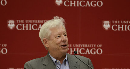 Nobel Prize winner for economics winner outlined policy that takes human foibles into account