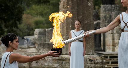 Olympic torch begins its journey to South Korea