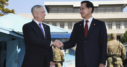 In the name of peace, Mattis calls for diplomatic solutions in Korean crisis