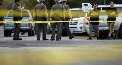 Officials examine scene of Texas mass shooting